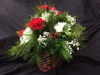 Christmas Basket Bouquet from Philips' Flower & Gift Shop