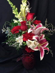 SIMPLY ELEGANT VALENTINE BOUQUET from Philips' Flower & Gift Shop