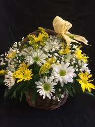 Daisies In A Basket Bouquet from Philips' Flower & Gift Shop