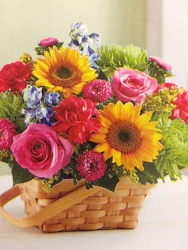Garden Basket of Joy Bouquet from Philips' Flower & Gift Shop