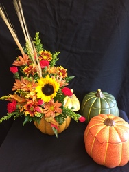 Fall Pumpkin Bouquet from Philips' Flower & Gift Shop