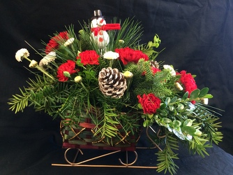 SANTA'S SLEIGH BOUQUET from Philips' Flower & Gift Shop