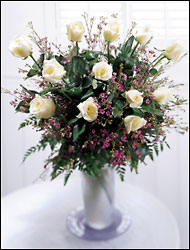 One Dozen White Roses Arrangement from Philips' Flower & Gift Shop