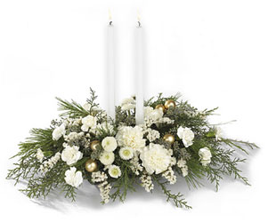 Wintergarden Candle Centerpiece from Philips' Flower & Gift Shop