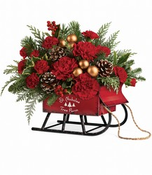 Teleflora's Vintage Sleigh Bouquet from Philips' Flower & Gift Shop