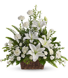 Peaceful White Floral Basket from Philips' Flower & Gift Shop