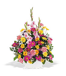 Spring Remembrance Funeral Basket from Philips' Flower & Gift Shop