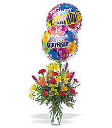 Birthday Balloon Bouquet from Philips' Flower & Gift Shop